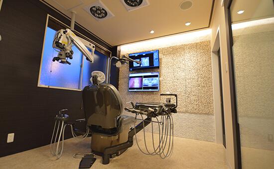完全個室の診療室あり